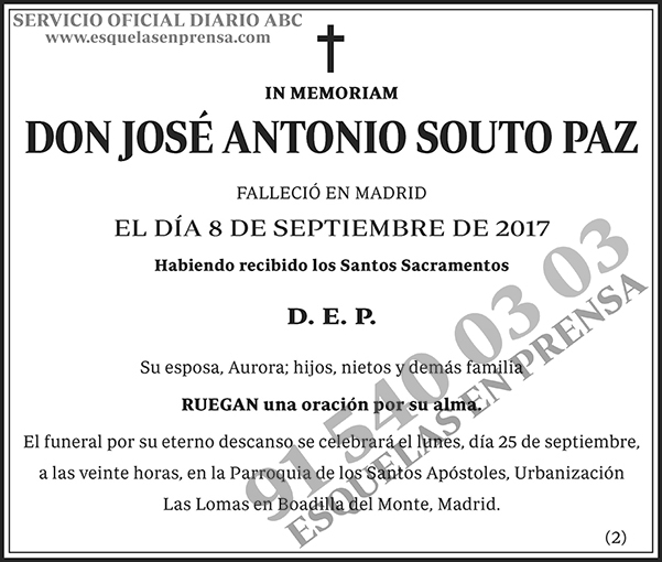 José Antonio Souto Paz